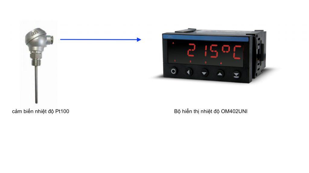 Bộ hiển thị nhiệt độ cảm biến Pt100 OM402UNI