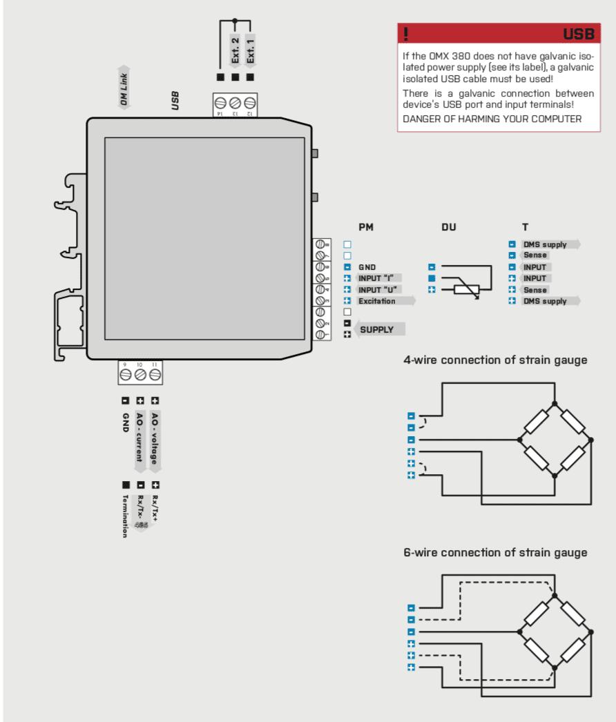 Sơ đồ đấu dây bộ chuyển đổi tín hiệu OMX 380T