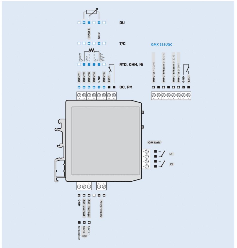 Sơ đồ đấu dây bộ chuyển 0-1A sang 4-20mA