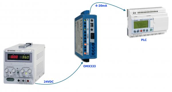 Bộ chuyển điện áp 24V sang 4-20mA