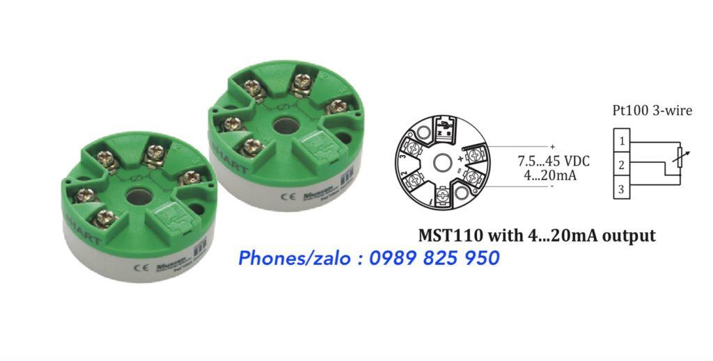 Bộ chuyển tín hiệu nhiệt độ Pt100 MST110