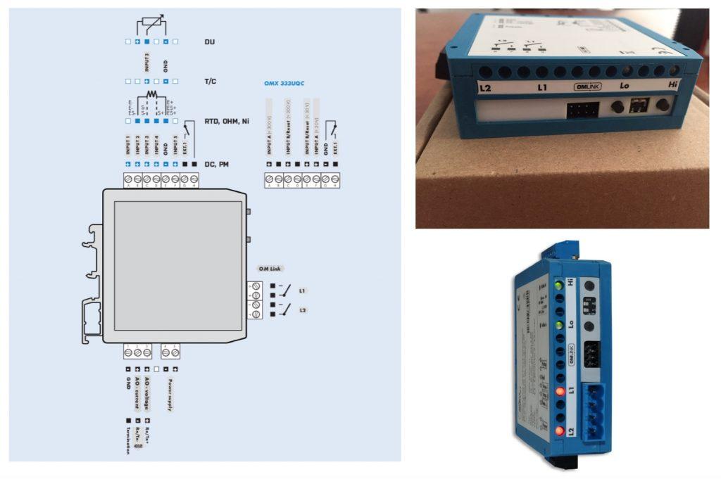 Sơ đồ đấu dây bộ chuyển tín hiệu OMX333UNI-111