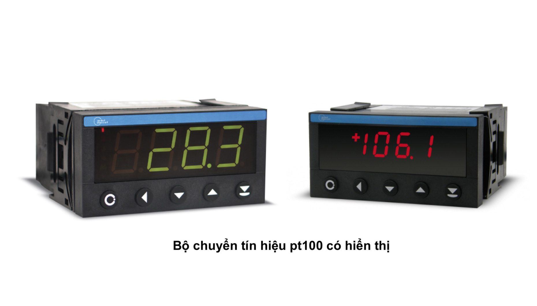Bộ chuyển nhiệt độ cảm biến Pt100 có hiển thị
