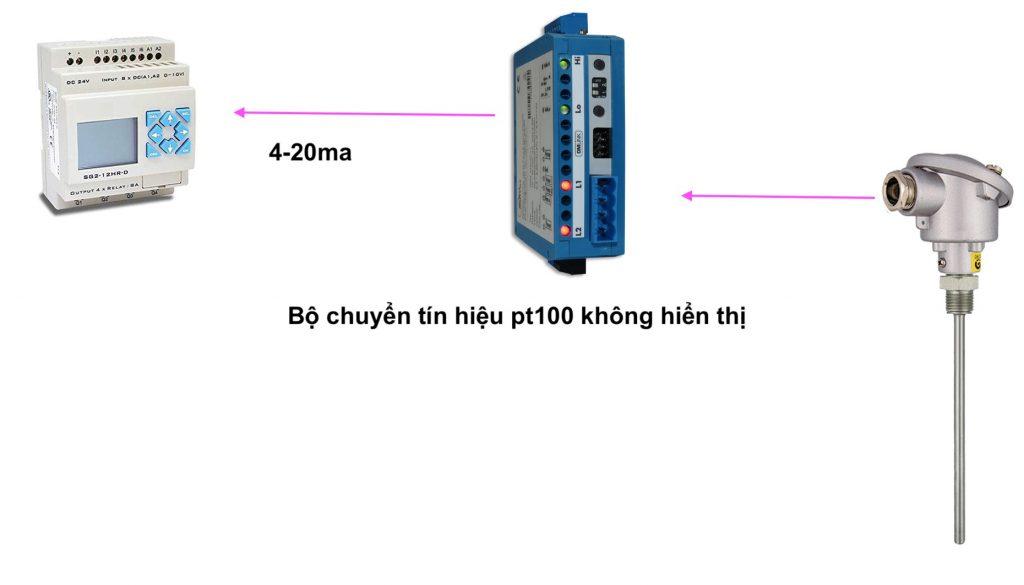Bộ chuyển pt100 ra 4-20mA dòng không hiển thị