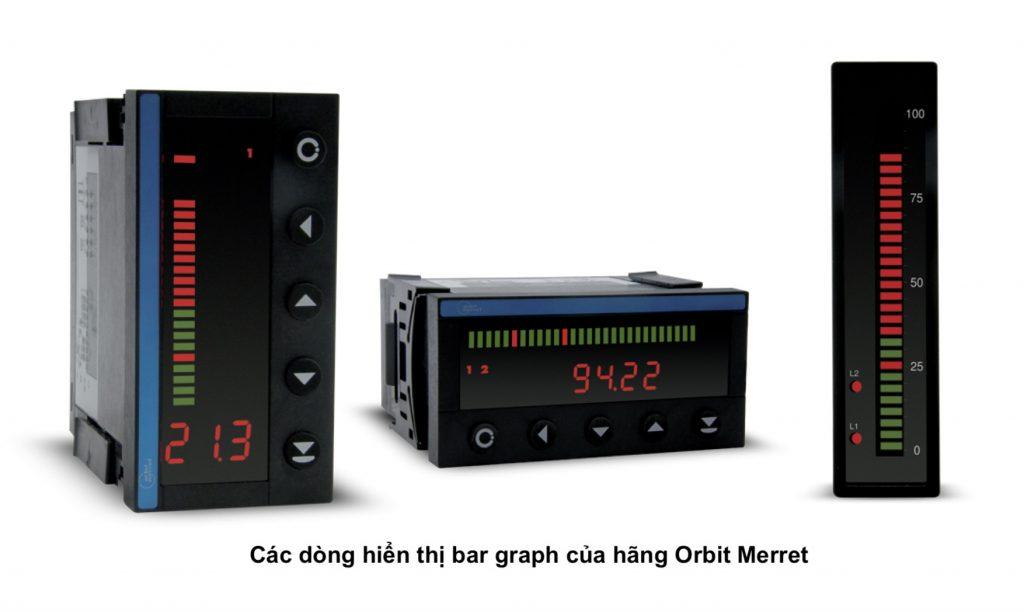 Bộ hiển thị nhiệt độ và áp suất với bar graph