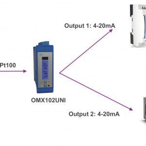ứng dụng chia tín hiệu Pt100