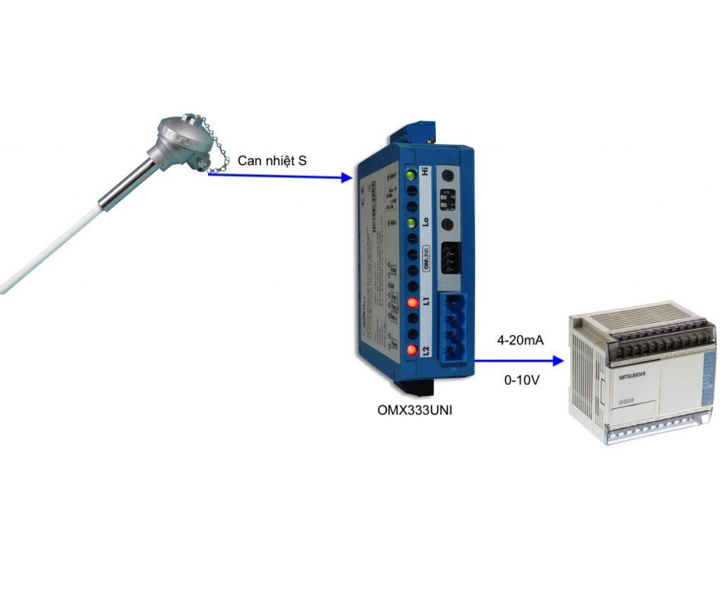 Bộ chuyển tín hiệu can nhiệt ra 4-20mA / 0-10V