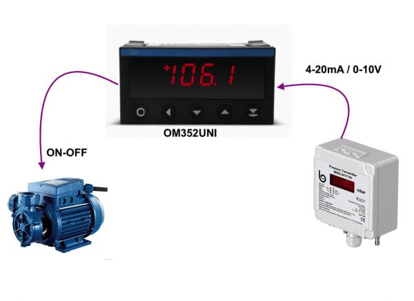 Bộ điều khiển áp suất dùng với cảm biến chênh áp