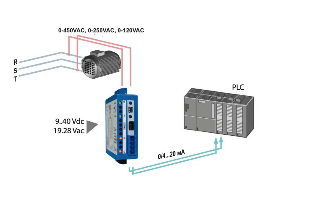 Bộ chuyển điện áp nguồn ra 4-20mA