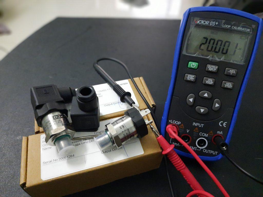 Giá đo cảm biến âm tại áp suất 0bar