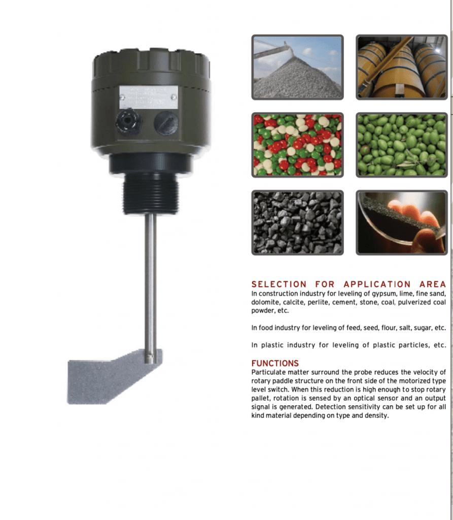 Cảm biến đo mức dùng vật liệu rắn Roto320