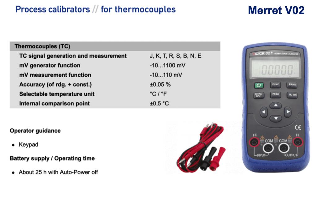 Bộ giả lập nhiệt độ Thermocouple
