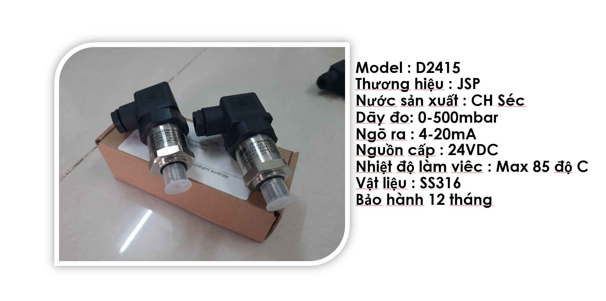 Thông tin kỹ thuật bộ D2415