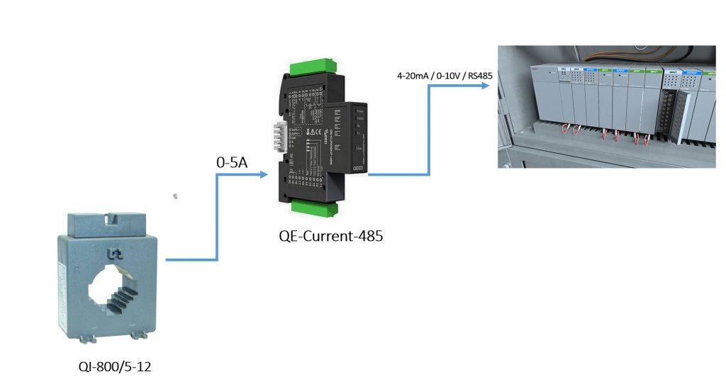 Bộ chuyển dòng 0-5A ra 4-20mA