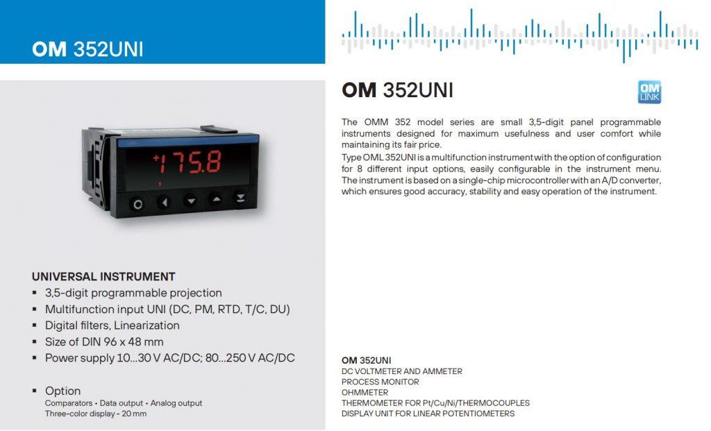 Bộ hiển thị cảm biến OM352UNI