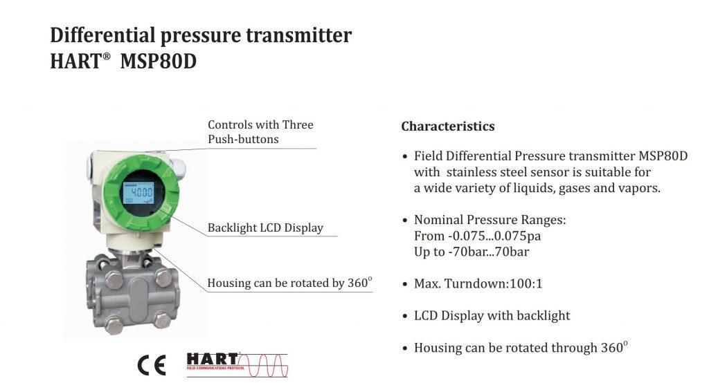 Cảm biến đo mức Muesen - MSP80D